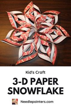 Learn how to make 3D paper snowflakes by watching this video tutorial and reading on for photo step-by-step instructions. These paper snowflakes are made with scrapbooking paper.