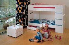 Muurame Furniture collection by professor Pirkko Stenros, first Moduli series products from year 1954. Beautiful, high quality and simple units, easy to combine from single life into becoming a family.