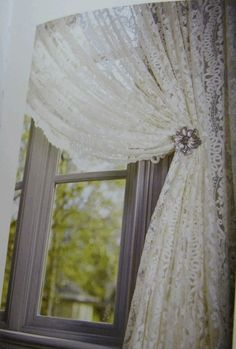 French lace curtains. Nice and shabby Chic by britt13