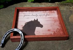 Decorative Serving Tray, Wood, Grace and Beauty...............Free US Shipping