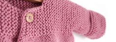 Rebeca de punto bobo de bebé - Pink Lady