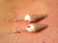 Ice cream cone earrings.   Chiquitos.storenvy.com