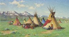Artwork by Joseph Henry Sharp, The Medicine Teepee, Made of oil on canvas kp
