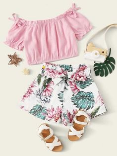 Cute Little Girls Outfits, Girls Summer Outfits, Dresses Kids Girl, Toddler Girl Outfits, Cute Casual Outfits, Pretty Outfits, Toddler Girls, Little Girl Clothing, Cute Clothes For Kids