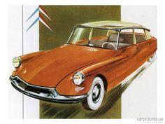 1950's Citroen ID 19 Car Print. - Car Pictures
