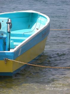 Roatan Water Taxi (credit ⚓ René Marie Photography) ⚓ Beach Cottage Life ⚓ http://www.etsy.com/shop/ReneMariePhotography⚓