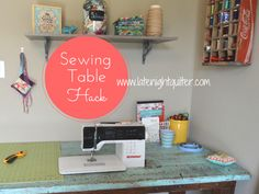 How to turn a simple table into a sewing machine table. #Sewing #DIY #Table