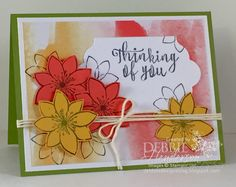 Paper Pumpkin October 2015 Kit Blissful Bouquet -- turn the tag over to use the other (white) side