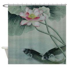 Koi Fish Cute Shower Curtain