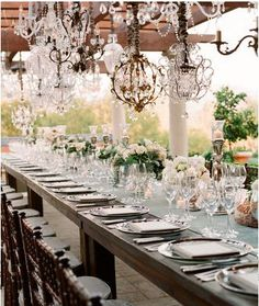 I love the chandalier and crystal look.