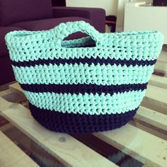 Trapillo crochet handmade bag! Proud of my first project!