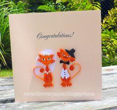 Orange Cat Bride & Groom