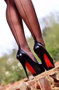 escarpins noirs sexy
