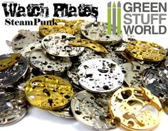 Specially selected vintage Watch Movements PLATES, antique partial pocket watch movement plates for Steampunk, Altered Art and Assemblage work. Zoom it to see how awesome these are!! These lots are for 8-12 random watch Movements Plates and other structural pieces suitable for steampunk project or arts and crafts and jewelery making or parts for watchmaker or watch repairer. The Size of the pieces are between 2 - 3cm.  Some of the pieces may have some of rust in the surface, but after little…