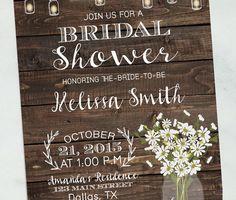 Printable Bridal Shower Invite Fall Bridal Shower Invitations