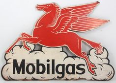 Double Sided Mobilgas Pegasus Sign : Lot 401