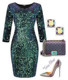 """New Year's Eve Ideas"" by terra-glam ❤ liked on Polyvore featuring Chanel, Christian Louboutin and Kate Spade"