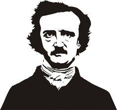 A stencil I did of Edgar Allan Poe. I put it on a T-shirt. Edgar Allan Poe, Face Stencils, Laser Cut Stencils, Cricut Stencils, Airbrush, 3d Templates, Allen Poe, Assemblage Art, Stencil Painting
