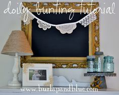 lace/doily bunting tutorial via burlap+blue