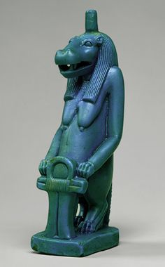 Statuette of the goddess Taweret, Ptolemaic Period, ca. 332–30 B.C. Egyptian