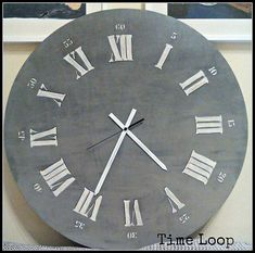 Gray wooden Clock