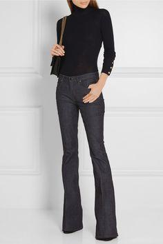 Victoria, Victoria Beckham | Mid-rise flared jeans | NET-A-PORTER.COM