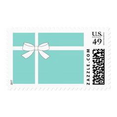 Blue And White Party Reception Gift Postage Sheet