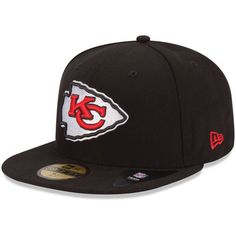7fba991e6 Men s Kansas City Chiefs New Era Black B-Dub 59FIFTY Fitted Hat