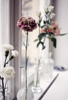 Vases, you get one flower each.