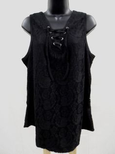 Plus Size 2X  SHEER LACE Top STRETCH Shirt LINED Trendy LACE-UP TIES Sexy  NWT #ExtraTouch #KnitTop
