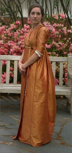 Silk Crossover gown made from The Elegant Lady's Closet pattern   Sense & Sensibility Patterns