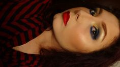 """Chaos Butterfly"" Makeup Tutorial - Cream & Blue Winged Smoky Eye"