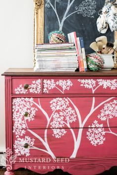 Miss Mustard Seed painted dresser