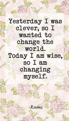Quotes and inspiration QUOTATION – Image : As the quote says – Description Today I Am Wise | 20 Inspirational Quotes About Changing Yourself Sharing is love, sharing is everything