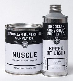 Brooklyn Super Hero Supply Co. // Cambell's soup looking, but cooler.