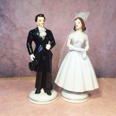 Vintage Porcelain Bride & Groom Figures