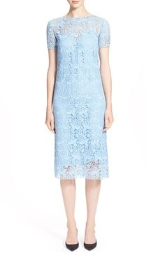 Nina Ricci Short Sleeve Guipure Lace Dress
