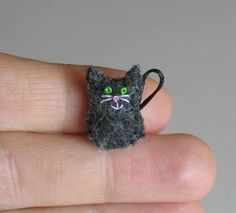 Black Cat miniature felt stuffed plush toy