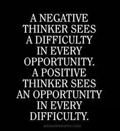 Positive thinkers!