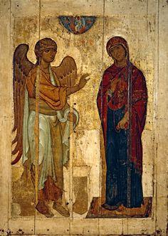 Blagovecshenie-Ustyuzhskoe-(1130-1140)-(238-h-168-sm)-(Moskva-Tretyakovskaya-galereya)ZWIASTOWANIE