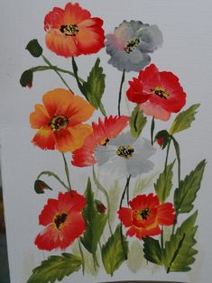one stroke painted cards | One stroke painting | Creativity Corner