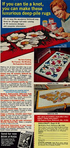 1968 Ad, Shillcraft Book of Rugs | Flickr - Photo Sharing!