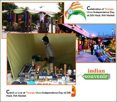 """Catch us Live at """"Celebration of 'Tiranga Utsav/Independence Day at Dilli Haat, INA Market"""".  Visit us at our Kiosk to shop for some of the coolest Stuff we have for you on this 68th Independence Day eve."""
