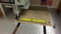 Simple signs with a beveled edge - How To - Carbide Community Site Desktop Cnc, Simple Signs, Cnc Machine, Community, Graphic Design, 3d, Visual Communication
