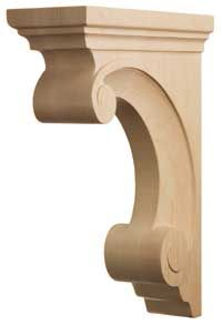 If you're looking for something a little more fancy, Stanisci Design offers Premier hardwood carvings in stain grade Maple, Oak, Cherry, and Alder. Decorative Brackets, Wood Brackets, Home Decor Furniture, Wooden Furniture, Cornice Design, Wooden Pattern, Wood Carving Designs, Shed Design, Wooden Puzzles