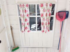 jazzy rose curtains run up by Nannie...