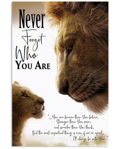 Nowadays, Lion King never forget who you are poster help customers to . - Nowadays, Lion King never forget who you are poster help customers to … – – - Love Gifts, Gifts For Mom, Lion King Quotes, Rafiki Quotes, Lion King Poster, King Frame, Le Roi Lion, Perfect Gift For Mom, Disney Quotes