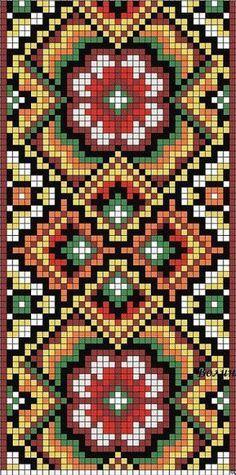 Bead loom pattern geometric