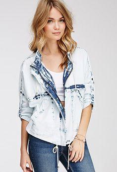 Bleached Denim Jacket | LOVE21 | #f21contemporray