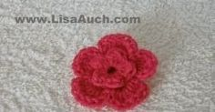 Crochet 3d double layered flower with this easy Free Crochet flower Pattern with only 8 steps. Ideal for hats and headbands. 100s of free crochet patterns on site.